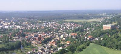Panorama of the city Golub-Dobrzyń